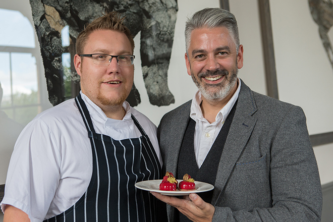 Martyn Edmonds and Mark Tilling serve up afternoon tea