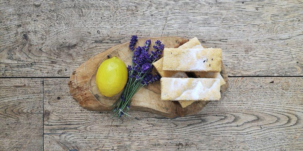 Lavender and lemon shortbread
