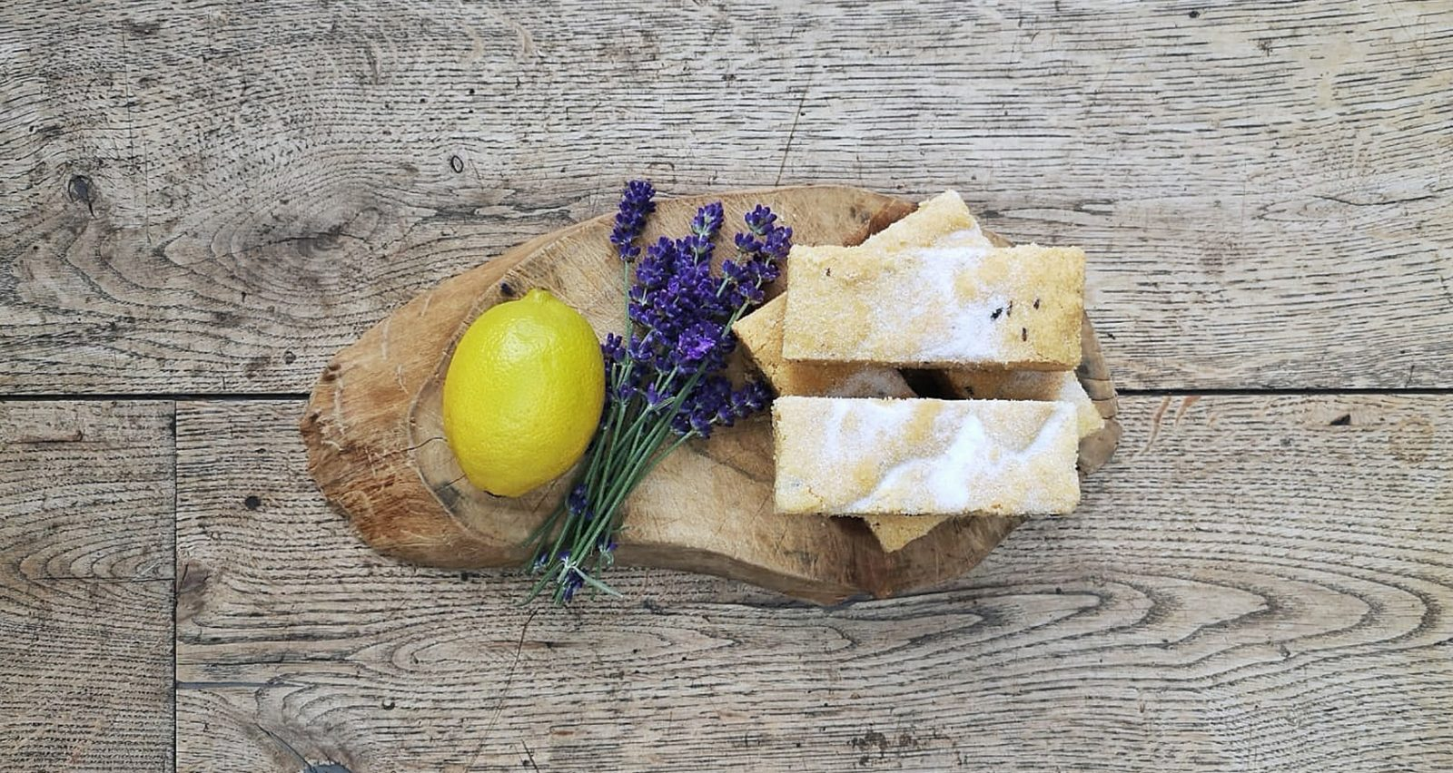 Lavender and lemon shortbread